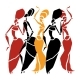 African Dancers Silhouette Set. - GraphicRiver Item for Sale