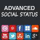 Advanced Social Status WordPress Social Counter - CodeCanyon Item for Sale