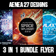 3 in 1  Outer Space Flyer - GraphicRiver Item for Sale