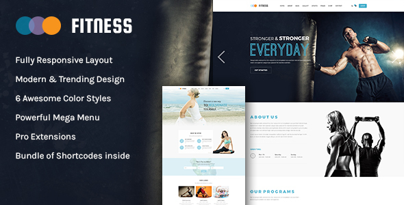 preview.  large preview - Fitness - Gym & Yoga WordPress Theme