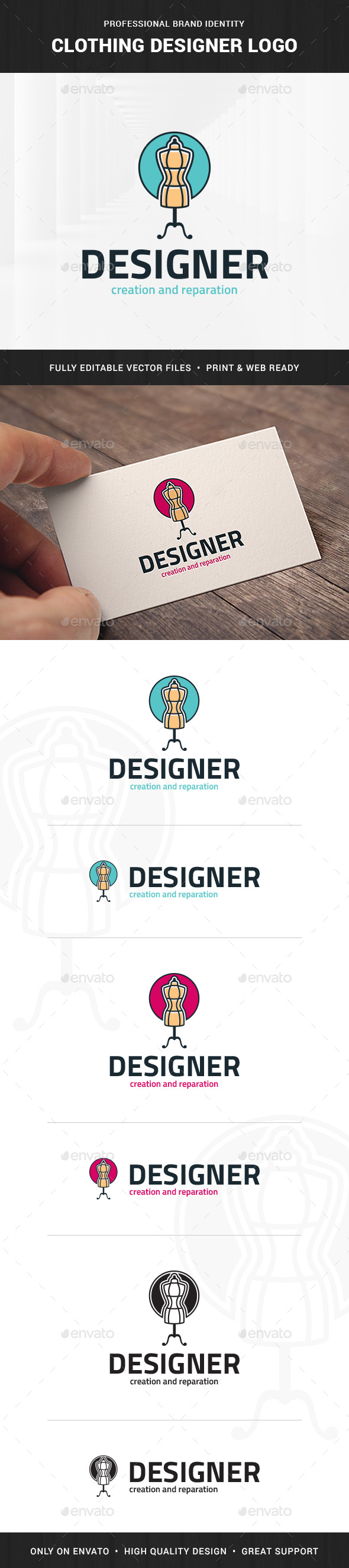 Clothing Designer Logo Template