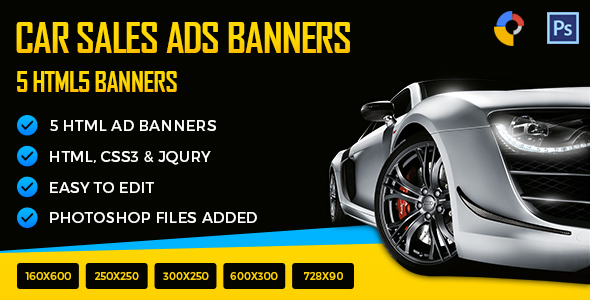 Car Sales - HTML5 Ad Banners Download