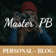 Master PB - Personal Blog PSD - ThemeForest Item for Sale