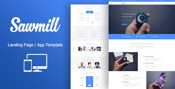 Sawmill - Product Marketing Landing Theme
