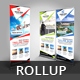 Travel Roll Up Banner V38 - GraphicRiver Item for Sale