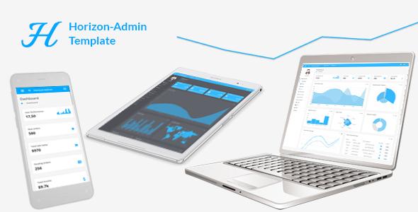 Horizon - Responsive + RTL + PHP + AngularJS Web app kit