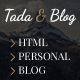 Tada & Blog - Personal HTML Theme - ThemeForest Item for Sale