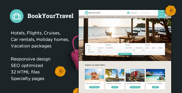 Book Your Travel – Online Booking HTML Template