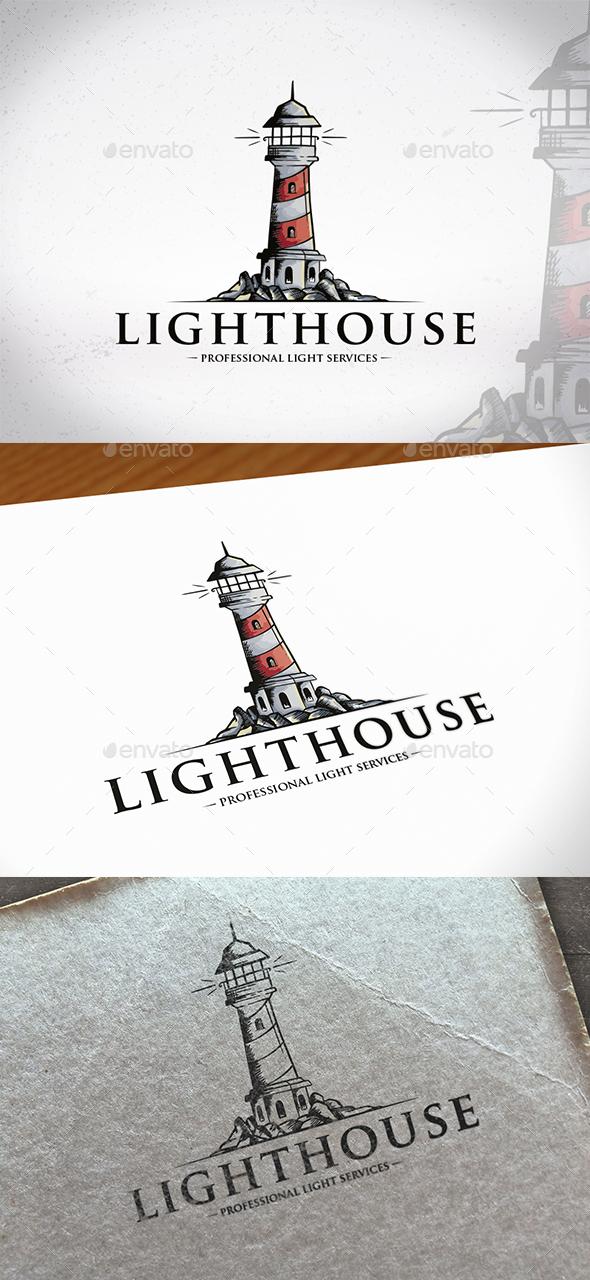 Watercolor Lighthouse Logo