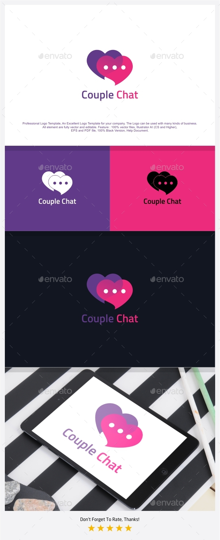 Couple Love Chat Logo