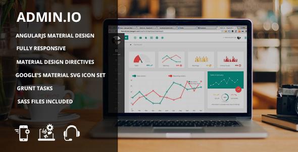 Admin.io - Responsive Material Design Dashboard