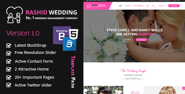 Rashid - Wedding and Event Planner HTML Template