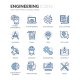 Line Engineering Icons - GraphicRiver Item for Sale