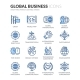 Line Global Business Icons - GraphicRiver Item for Sale