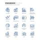Line Diagram Icons - GraphicRiver Item for Sale