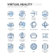 Line Virtual Reality Icons - GraphicRiver Item for Sale
