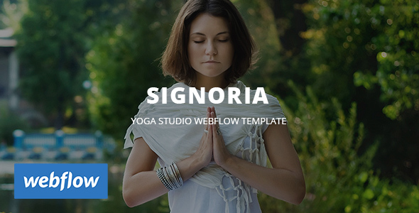 Signoria - Yoga Studio WebFlow Template