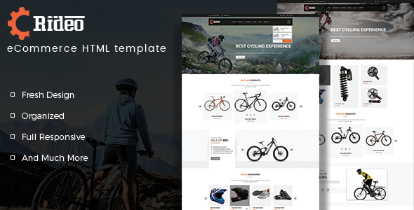 Rideo - Bicycle Store HTML Template
