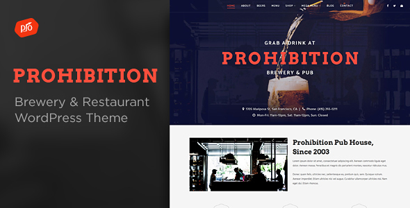 Prohibition - Brewery & Restaurant Theme