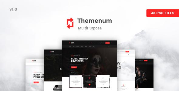Themenum - A stunning and Creative Multipurpose PSD Template
