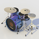 DRUM SET PERCUSSION MUSIC INSTRUMENT KIT & CYMBALS - 3DOcean Item for Sale