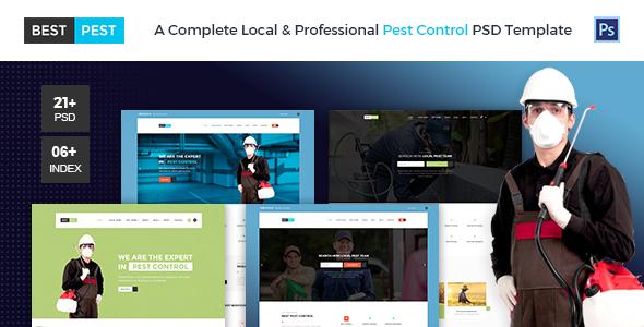 Best Pest | Bug Control PSD Template