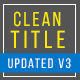 Clean Titles Updated - VideoHive Item for Sale