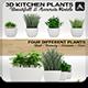 Kitchen Plants 3D - 3DOcean Item for Sale