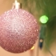 Purple Ball In Sequins On The Christmas Tree - VideoHive Item for Sale