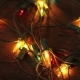 Flashing Garland on the Wooden Floor - VideoHive Item for Sale