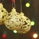 Openwork Gold Balls On a Christmas Tree - VideoHive Item for Sale