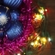 Blue Balls In a Wicker Basket And Garland - VideoHive Item for Sale