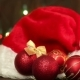 Hat Of Santa Claus And Christmas Tree Decorations - VideoHive Item for Sale
