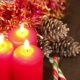 Three Burning Christmas Candles - VideoHive Item for Sale