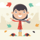 Girl on an Autumn Day - GraphicRiver Item for Sale