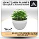 Basil Pot 3D - 3DOcean Item for Sale