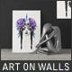 Art On Walls Mockup - Canvas Mockups - Frame Mockups - Wall Mockups Vol 5 - GraphicRiver Item for Sale
