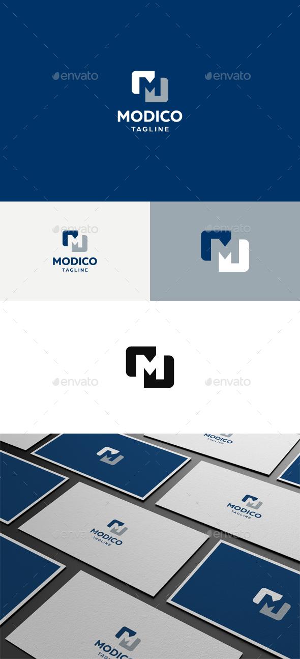 Modico M Letter Logo