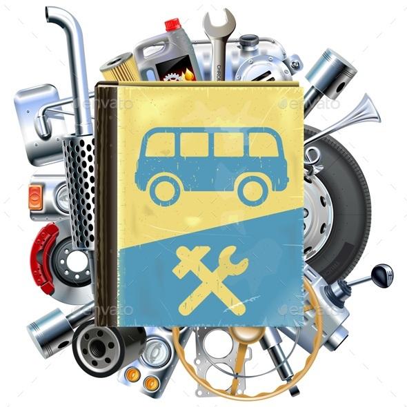 Vector Bus Repair Book with Car Spares