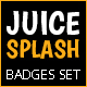 Juice Splashes Badges Set - GraphicRiver Item for Sale