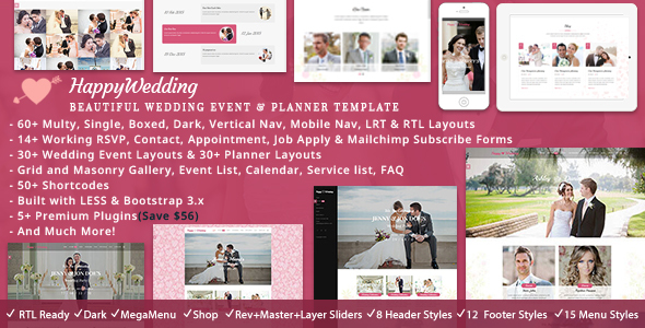 HappyWedding - Wedding Planner HTML