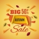 Big Autumn Sale Banner With Abstract Leafs. - GraphicRiver Item for Sale