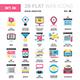 Digital Marketing Flat Web Icons - GraphicRiver Item for Sale