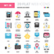 Banking and Money Flat Web Icons - GraphicRiver Item for Sale