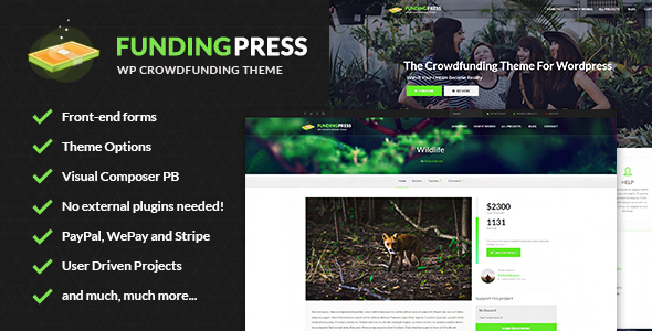 Fundingpress - The Crowdfunding WordPress Theme