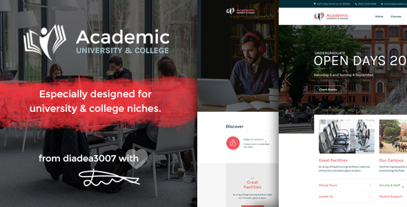 Academic - University & College PSD Template