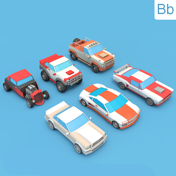 Low Poly Car CG Textures & 3D Models from 3DOcean