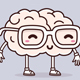 Set of Poses of Happy Brain Character - GraphicRiver Item for Sale