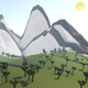 Low poly Mountains - 3DOcean Item for Sale