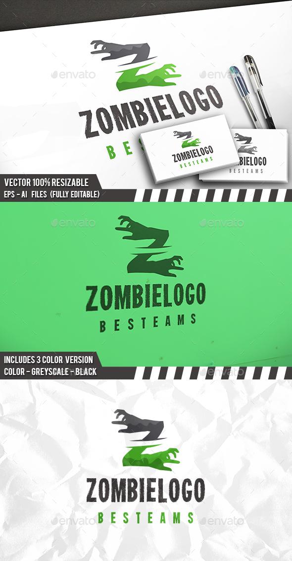Zombie Z Letter Logo